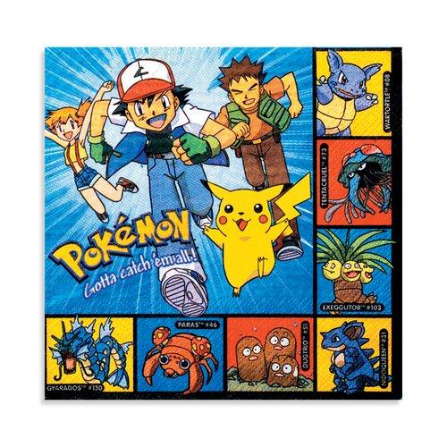Pokemon Luncheon Napkins - 16 Count