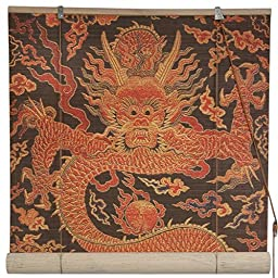 Oriental Furniture Dragon Design Bamboo Blinds - (60 in. x 72 in.)
