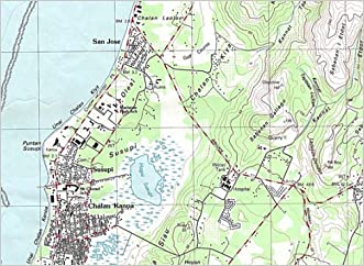 Island of Saipan (Northern Mariana Islands) Detailed Topographic Map: 1:25,000 Scale