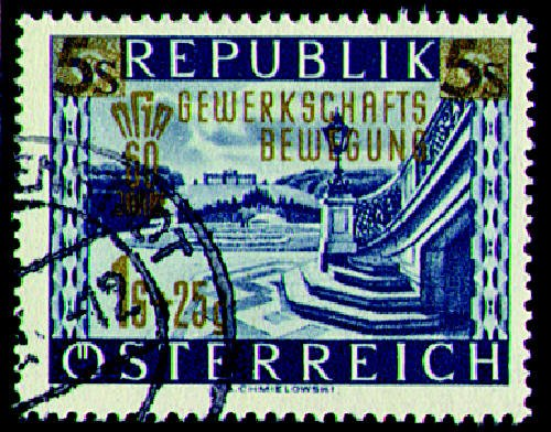Briefmarken Österreich Nr. 983 gestempelt Gewerkschaft 1953