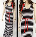 Stripes Maxikleid Longdress Bodenlang gestreift S/M 180