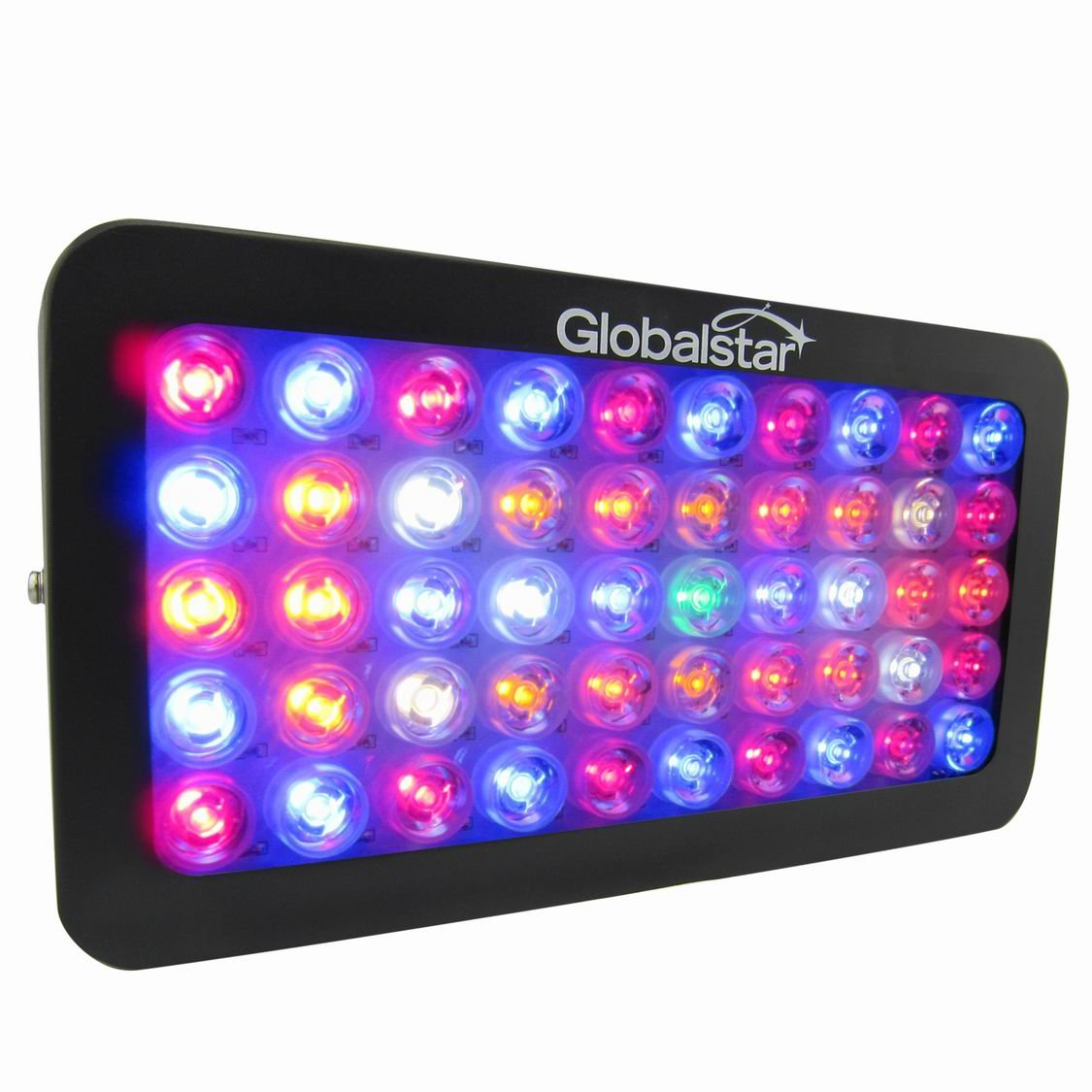 Global Star G02-50x6w Plus Horticulture Full Spectrum 300w Black LED Grow Light for Indoor Plant Growing