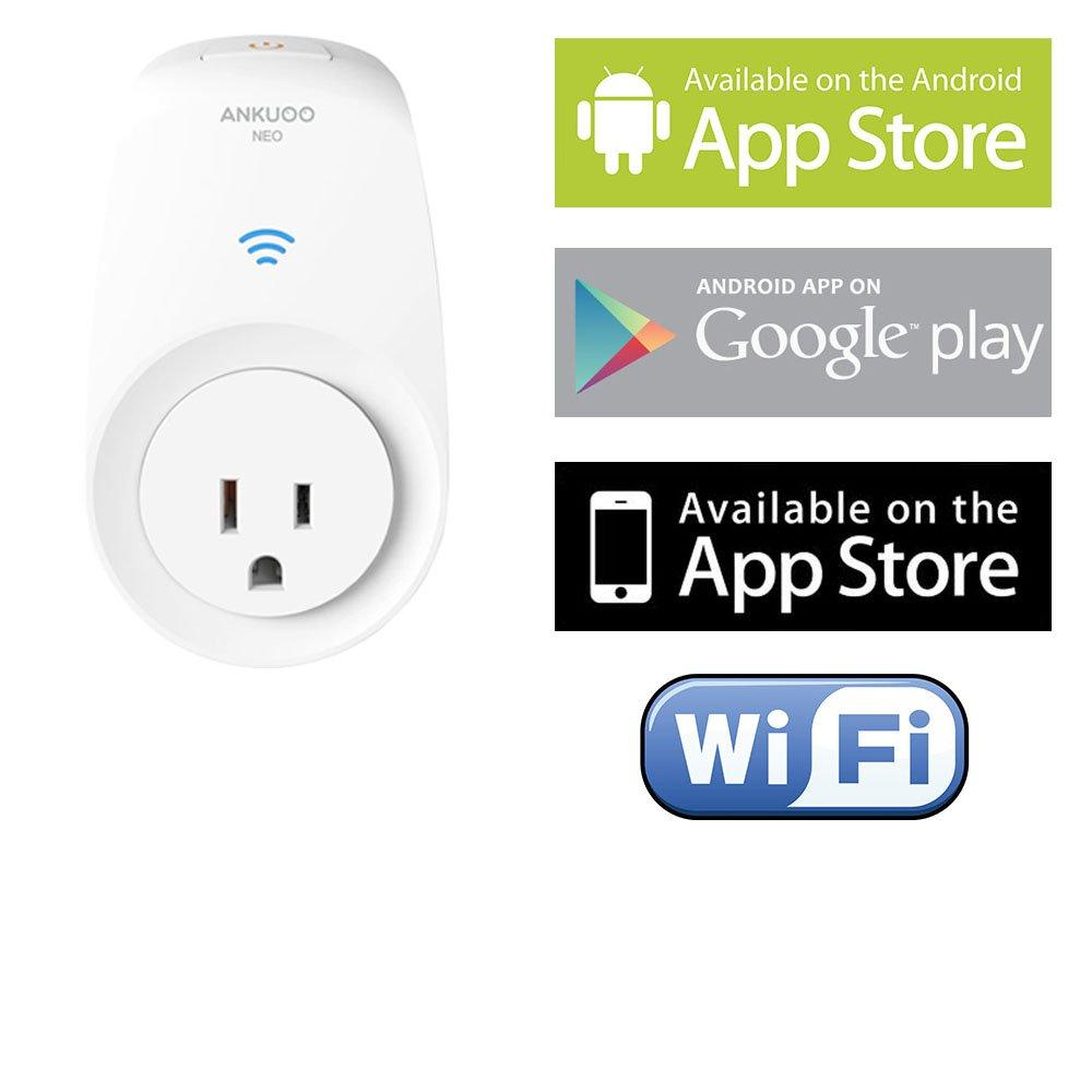 Ankuoo NEO Smart Plug, Wi-Fi, White