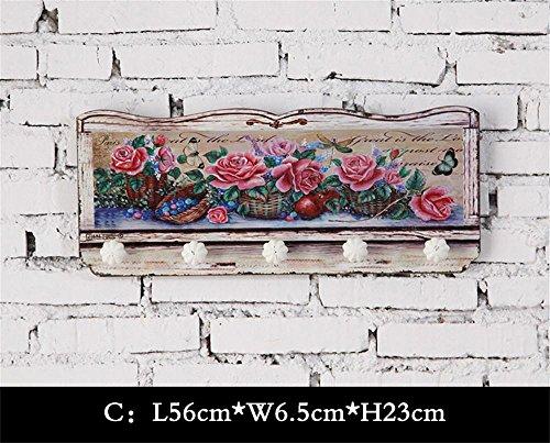 ALUK- ganci gancio American Retro cappotto portico in legno creative decorazioni casa ( MODELLO : C. )