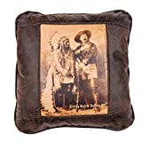 "Big House Home Collection ""Sitting Bull and Buffalo Bill"" Home Accent Pillows, 16 by 16-Inch"