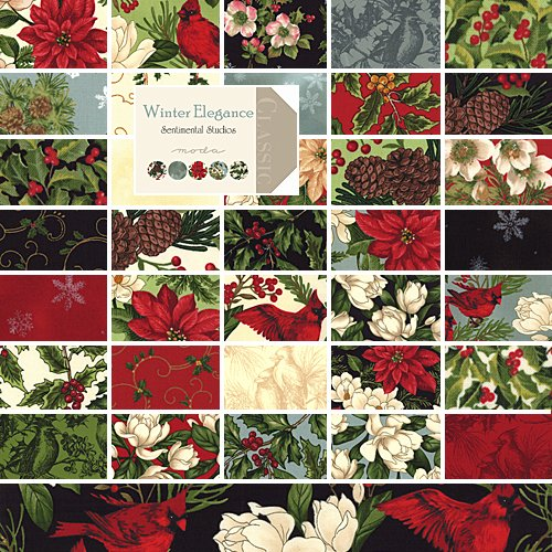 "Amazon.com: Moda Winter Elegance Charm Pack 5"" Quilt Squares"