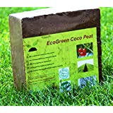 Premium Fine Grade Quality Coco Coir Peat Block (11 Lbs) - Made From 100% Natural Coconut Fibre or Coir Which Is Excellent Growing Medium for Plants and Earthworms - Expands Upto 15 to 17 Gallons After Adding Water - Excellent Potting Soil - Perfectly Fits Any Grow Bag - Perfect for Seed Starter - Best Replacement for Peat Moss and Peat Soil