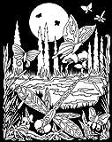 Darice 16-Inch by 20-Inch Velvet Art Set, Butterfly Meadow