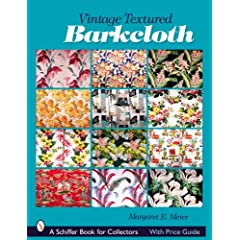 vintage textured barkcloth book cover