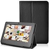 "NSSTAR Folio Stand Faux Leather Case Cover Flip Protection Guard Case Cover for Zeepad, Chromo, Alldaymall, Matricom, Tagital 7 Inch Android Tablet Q88,Alldaymall A88X 7'',NeuTab N7 Pro,Chromo Inc 7"" (Black)"
