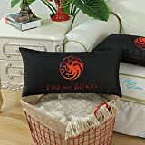 Euphoria CaliTime Home Decor Bolster Pillow Covers A Game of Thrones House Targaryen Fire And Blood 12 X 24 Inches Both Sides Print