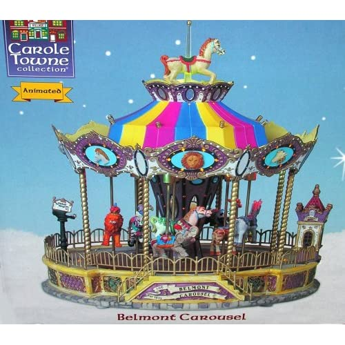 Amazon.com - Carole Towne Collection Animated Belmont Carousel Lighted