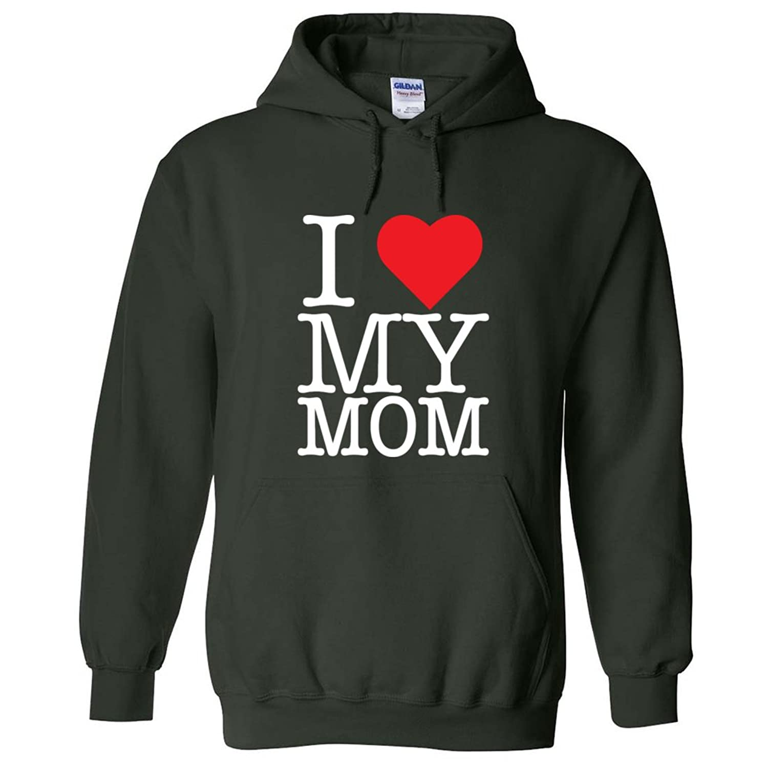цена I LOVE MY MOM MOTHER'S DAY mum HEART HOODIE SWEATSHIRT онлайн в 2017 году