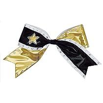 Jumbo Metallic Rhinestone Hair Bow with Star