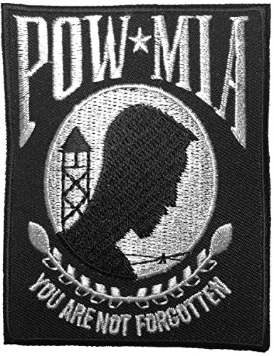 POW MIA Prisoner of War You are not forgotten Military Veterans Vietnam War Sew Iron on Applique Embroidered Emblem Badge Patch By Ranger Return (IRON-POW-MIA) (Military Ranger Patch compare prices)