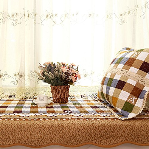 new-day-window-mat-lattice-striped-cotton-window-pad-anti-skid-tatami-mat-90120cm