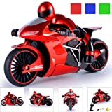 1:16 Remote Control RC 2 Wheels Rapid 13MPH Drift Remote Control Motorcycle 24.412.714CM 13MPH Student Toys Gift (Red) (Color: Red)