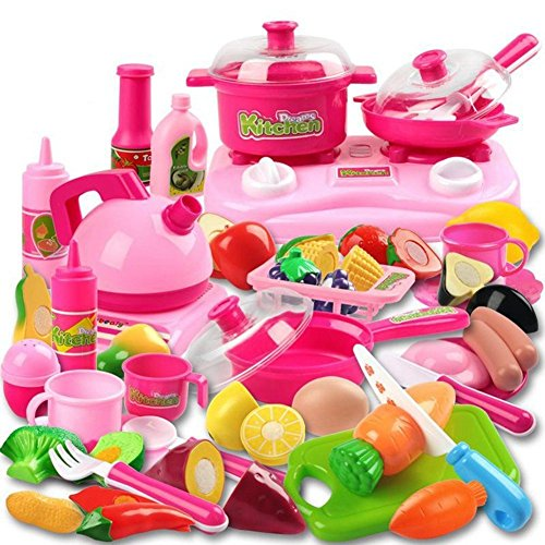 Cooking Toys For Boys : Piece kitchen cooking set girls boys fruit vegetable