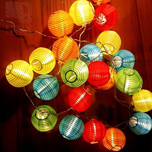 16ft 20 Oriental LED Solar String Chinese lantern Lights For Indoor Outdoor Christmas Wedding Birthday Party Decor no Batteries or Plug Needed (Colorful) (Rv Hanging Grill compare prices)
