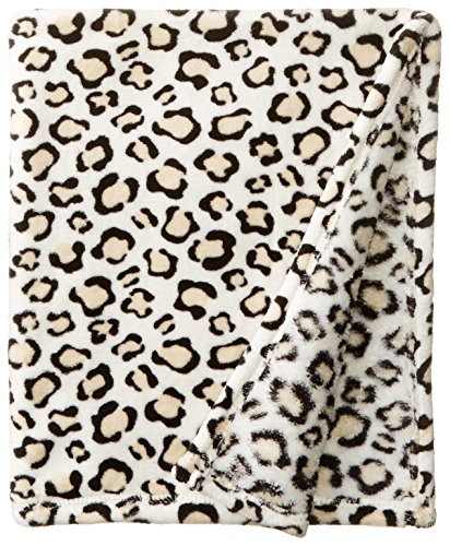 BabyGear Baby-Girls Newborn Printed Velboa Blanket On Hanger-Leopard