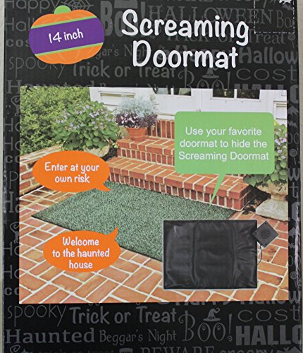 Screaming Doormat  Pressure Sensitive  Makes Screaming  ~ 010317_Halloween Doormat With Sound