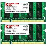 Komputerbay 2GB 2X 1GB DDR2 667MHz PC2-5300 PC2-5400 DDR2 667 (200 PIN) SODIMM Laptop Memory