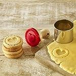 Mini biscuits Tampon de cœur, �...