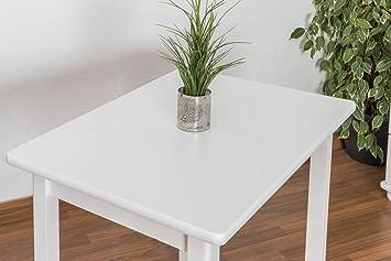 Tisch 60x90 cm Kiefer massiv, Farbe: Weiß