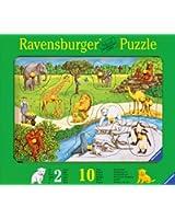 Ravensburger 03601 Animali allo zoo- Puzzle in legno da 10 pezzi