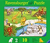 Ravensburger 03601 - Tiere im Zoo - 10 Teile Holzpuzzle