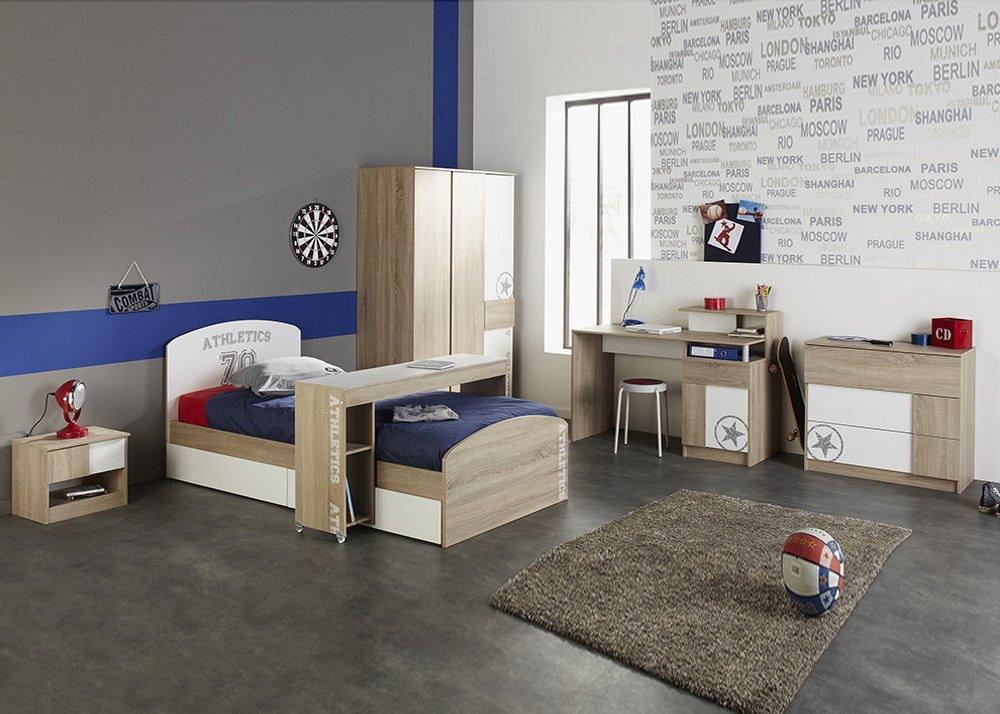 Jumbo-Möbel 6 tlg. Jugendzimmer Set BATTLE in Eiche Sonoma Design günstig kaufen