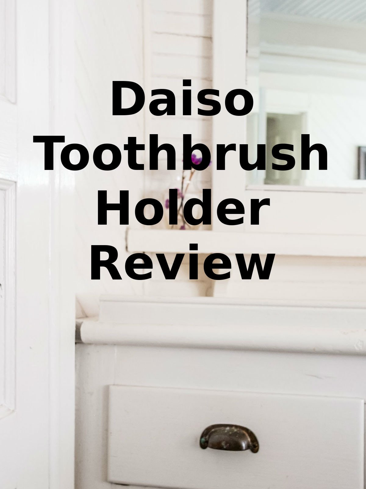 Review: Daiso Toothbrush Holder Review