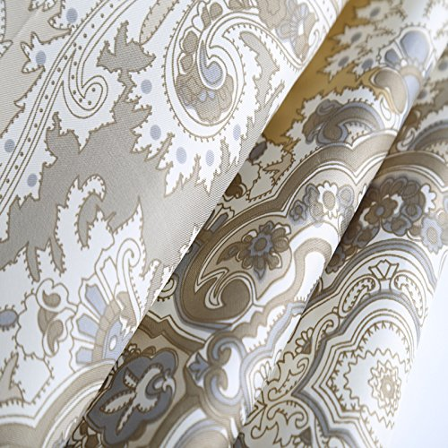 Welwo Shower Curtain Extra Long Wide Shower Curtain Set Paisley Shower Curtain 78 X 84 Inches