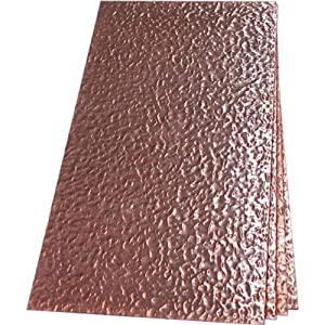 "Hammered Copper Sheet Metal - 24"" x 24"""