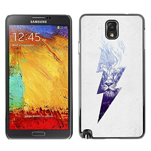 Plastic Shell Protective Case Cover || Samsung Galaxy Note 3 N9000 N9002 N9005 || Danger High Voltage Lightning @XPTECH