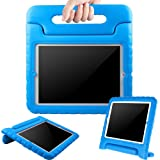BMOUO ShockProof Convertible Handle Light Weight EVA Protective Stand Kids Case for Apple iPad 4, iPad 3 and iPad 2 - Blue (Color: Blue)