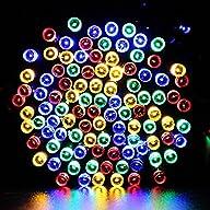 lederTEK Decorative Solar Powered Christmas Lights Multi-color 200 LED 8 Modes Fairy String Light…