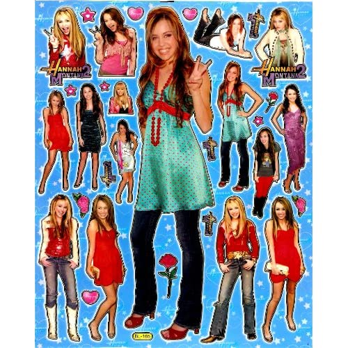 Amazon.com: Hannah Montana 2 MILEY CYRUS Sticker Sheet BL165
