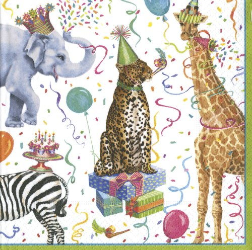 Entertaining with Caspari Party Animals, Luncheon Napkins, Pack of 20