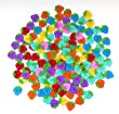 Pack of 50PCS Strawberry Buttons- Mixed Colours of Various Plain Round DIY Buttons for Sewing and Crafting