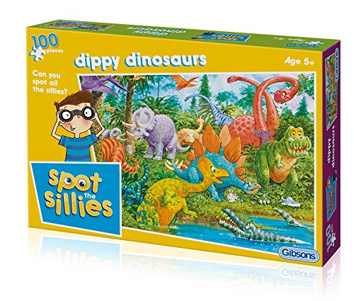 Gibsons Spot The Sillies - Dippy Dinosaurs Jigsaw Puzzle (100-Piece)