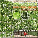 目隠しグリーンフェンス 約100×200cm 【ライトグリーン】 (ラティス / リーフ / ベランダ / エアコン代の節約に )