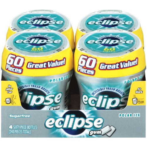 Eclipse Big E Polar Ice Gum 60-Count Pieces Pack of 4B001D3K2CE