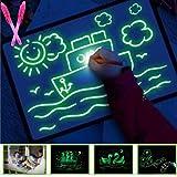 Draw with Light Fun Drawing Board Luminous Board Children's Glowing Magic Graffiti Painting Board Children's Drawing Board (L (11.8