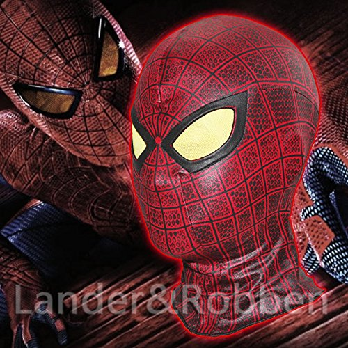 [The Amazing Spider Man 1 Red Masks Halloween Party Cosplay Hood Full Face Mask] (The Amazing Spider Man 2 2016 Costume)