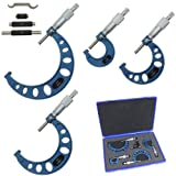 Anytime Tools Premium Outside Micrometer Set 0-4