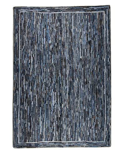 Dreamweavers Cowboy Stripe Rug, Blue, 5′ x 7′