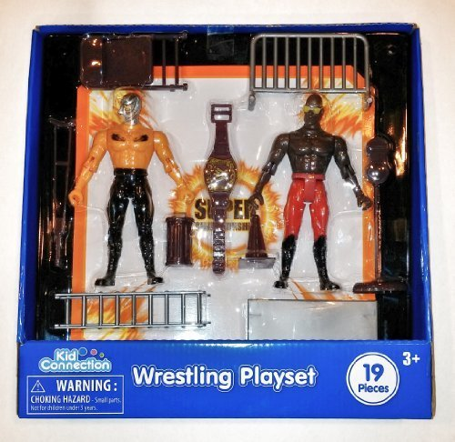 Wrestling Playset with 2 Articulated Figures