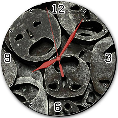 """Metal Mask Iron Cut Out 10"""" Quartz Plastic Wall Round Clock Classic Analog Setting Customized Inch Hand Needle Made To Order Support Ready Assembly Required Luxlady Dial Time Personalized Gift Battery Operated Accessories Graphic Designed Model Hd Templat front-623610"""