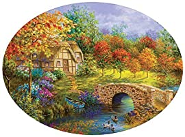 Beautiful Autumn - 600pc Round Jigsaw Puzzle By Sunsout
